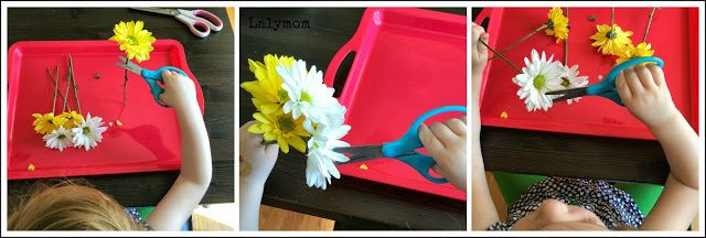 Cutting Practice for Kids: Scissors and Flowers from Lalymom #FineMotor