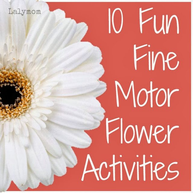 Fine Motor Activities with Fresh Flowers from Lalymom