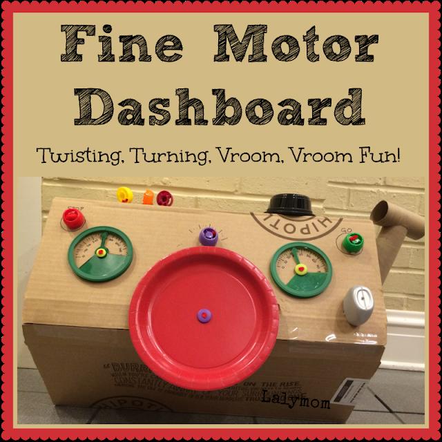 Fine Motor Development Activity for Kids - DIY Dashboard from Lalymom #ECE #FineMotor