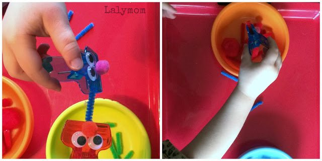Monster Clips for Fine Motor Fun from Lalymom