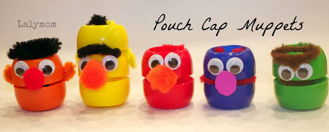 Sesame Street Pouch Cap Figures from Lalymom