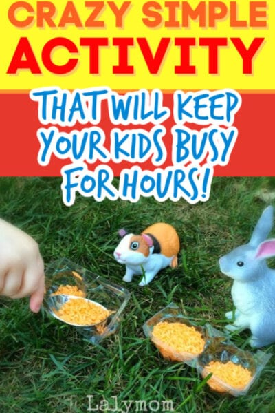 Pet Shop Play Time - This easy prep activity for kids offers fine motor skills practice as well as tons of pretend play fun! #toddler #preschool #finemotor #pouringskills #lifeskills