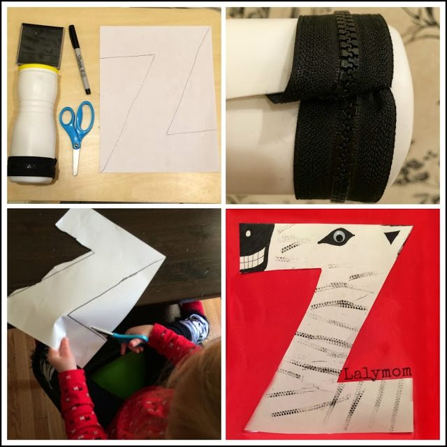 Z is for Zipper-Stamped Zebra and Other Z Activities for Kids