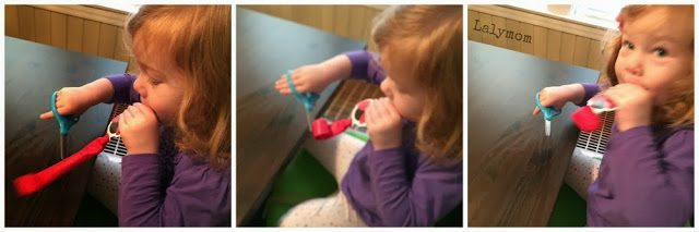 Birthday Blower Cutting Practice for Funny Fine Motor Development from Lalymom