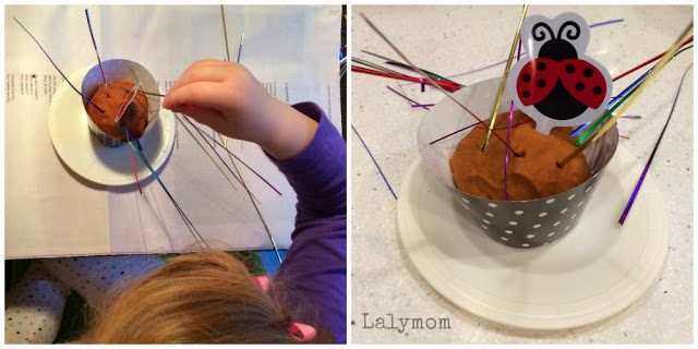 Birthday Play dough for Fine Motor Fun from Lalymom