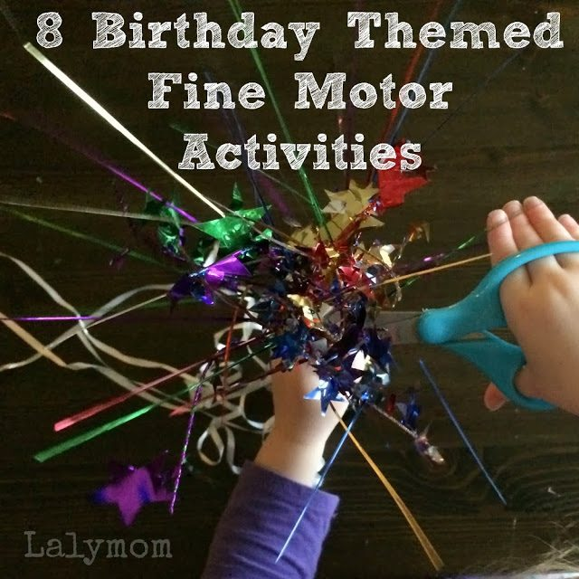 Birthday Themed Fine Motor Activities for Kids from Lalymom