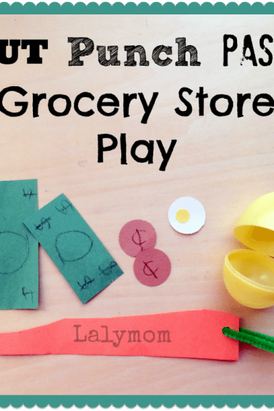 Fine Motor CUT Punch PASTE Grocery Store Play for Kids