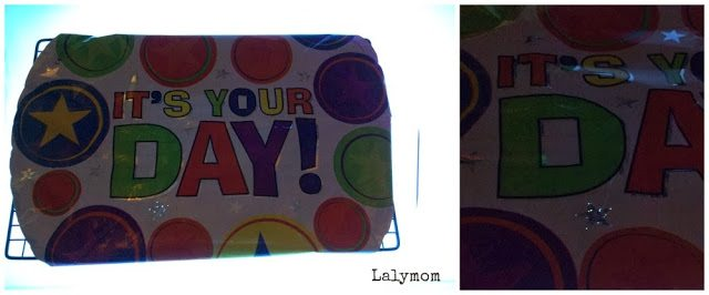 Fine Motor Toothpick Hole Punch on Mylar Balloon from Lalymom