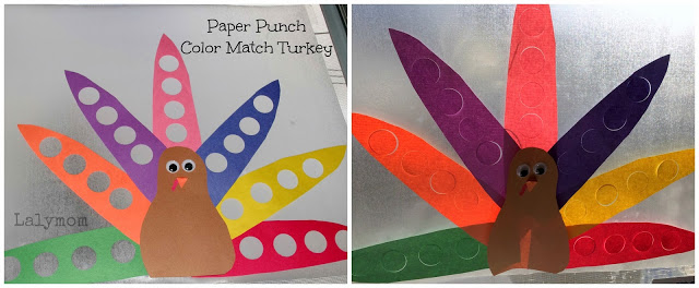 Turkey Fine Motor Activity and Art Project for Toddlers from Lalymom