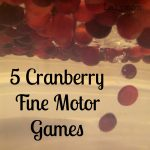 Thanksgiving Fine Motor Games for Kids Using Cranberries from Lalymom
