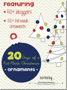 20 Days of Kid-made Christmas Ornaments from Mama Miss