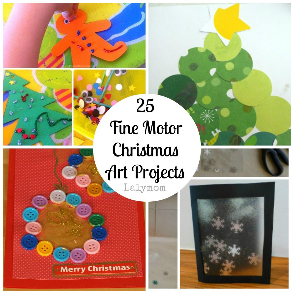 Cards and Ornaments Fine Motor Christmas Art Projects for Kids from Lalymom- Fine Motor Fridays MEGA Roundup #FineMotor #CreativeMamas #PlayMatters #KBNMoms
