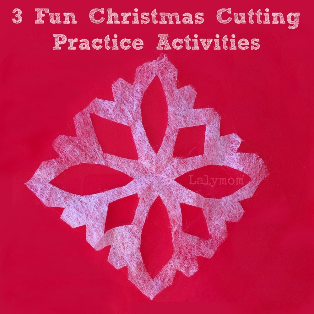 3 Fun Christmas Cutting Practice Activities for Kids from Lalymom