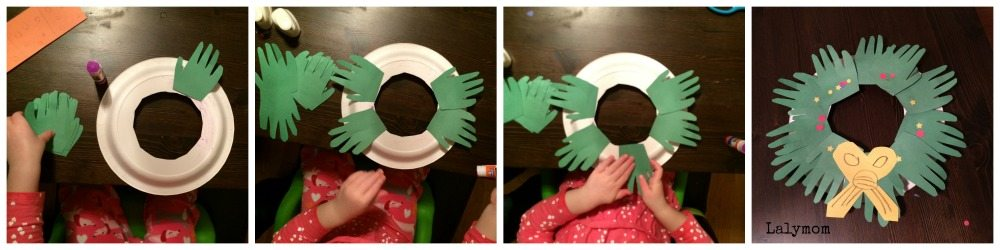 Hand Wreath Christmas Themed Fine Motor Activity for Kids from Lalymom