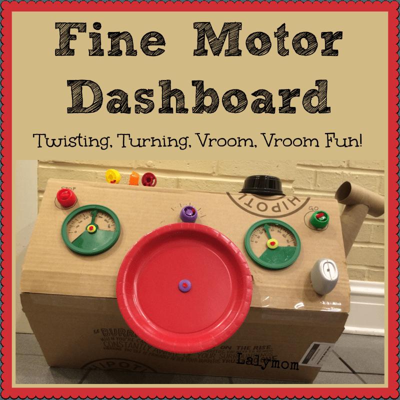 Fine Motor Skills Activity Dashboard for Kids