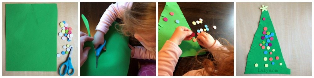 Fine Motor Skills Christmas Tree from Lalymom