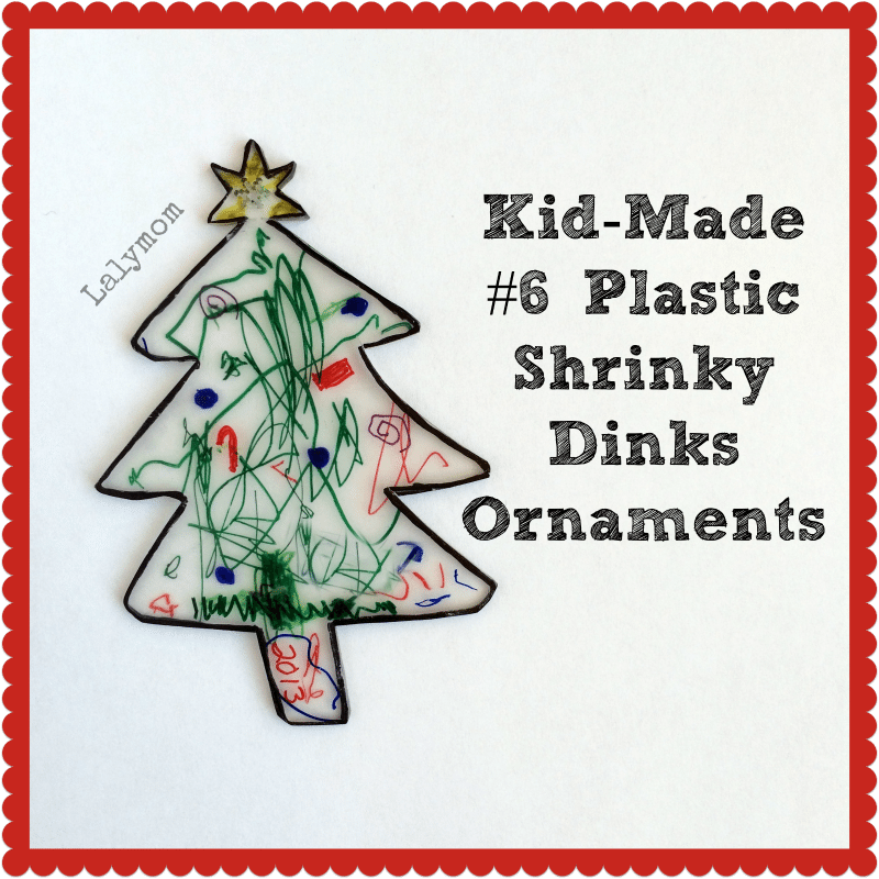 Kid Made Shrinky Dinks Christmas Tree Ornament from Lalymom