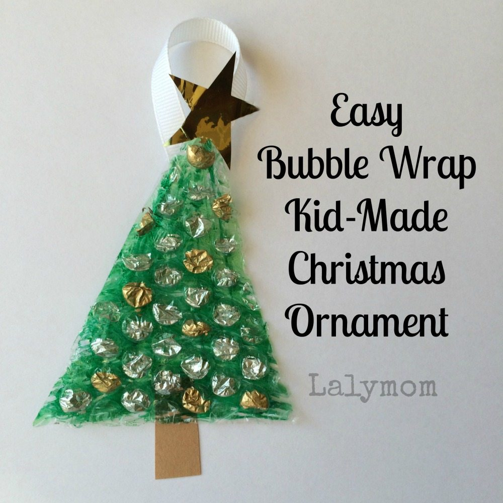 Easy Bubble Wrap Kid Made Christmas Ornament from Lalymom