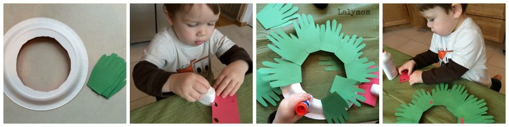 Christmas Wreath Art Project Craft for Kids from Lalymom