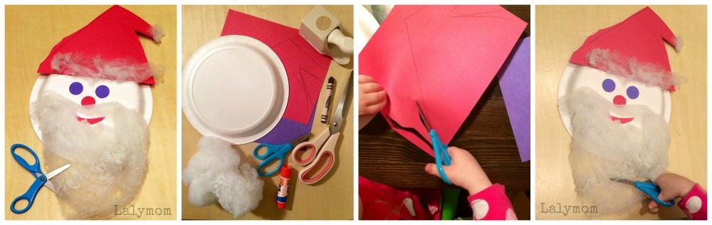 Santa Scissors Skills Cutting Activity for Preschoolers from Lalymom
