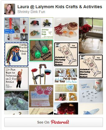 Shrinky Dinks Pinterest Board from Lalymom