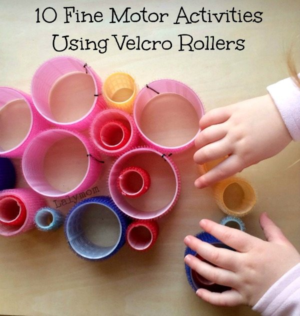Fine Motor Skills Activities Ideas Using Velcro Rollers
