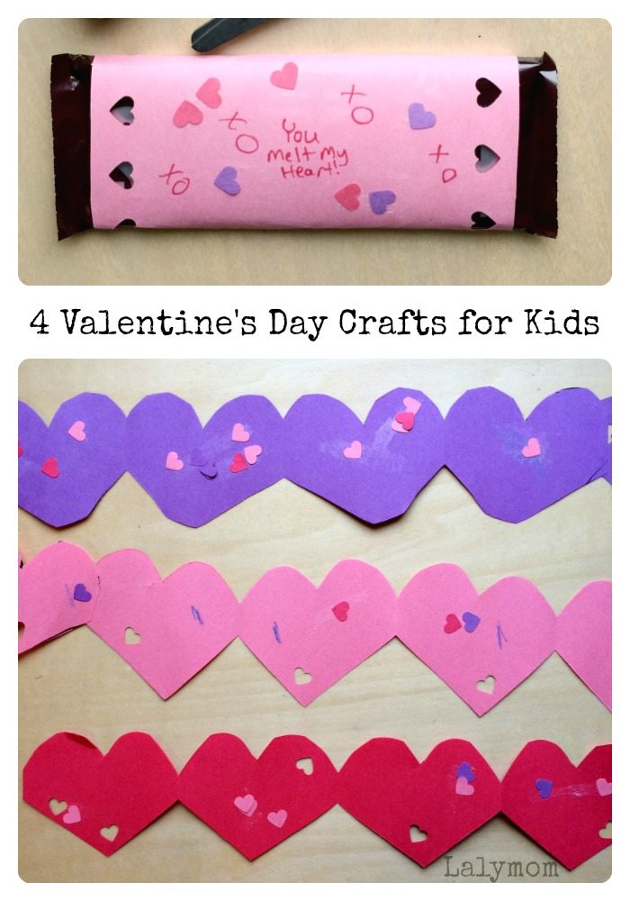 4 Valentine's Day Crafts for Kids on Lalymom.com - these are so cute!