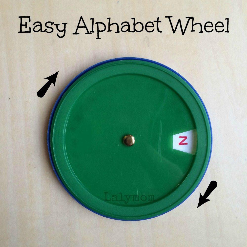 Fine Motor Alphabet Wheel from Lalymom