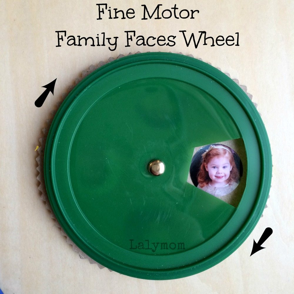 Fine Motor Family Faces Wheel from Lalymom