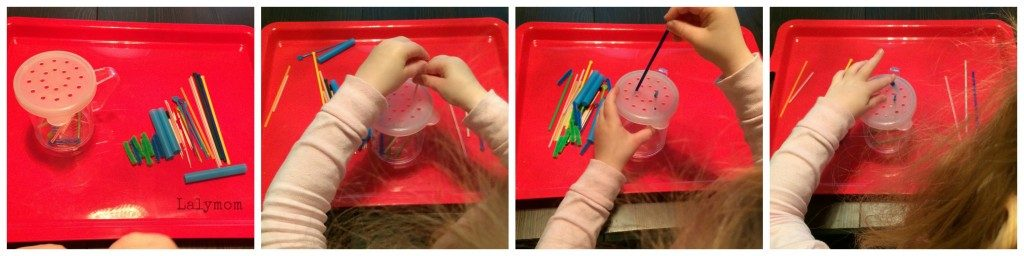 Fine Motor Size Sorting game for kids from Lalymom
