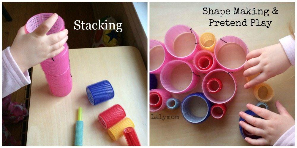 Fine Motor Skills Activities for Preschoolers Using Velcro Rollers from Lalymom