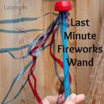 Straw Crafts for Kids Last Minute Fireworks Wand from Lalymom