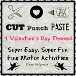 Valentine's Day Cutting Practice Activities for Kids with Cutting Paste and Punch from Lalymom