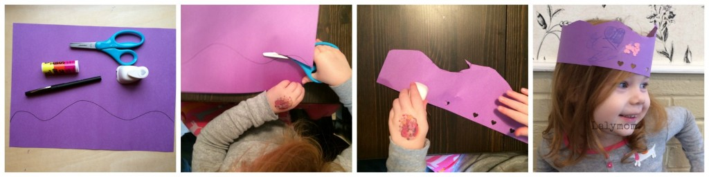 Valentine's Day Crown Fine Motor Skills Art Project from Lalymom