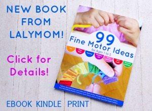 99 Fine Motor Activities Book Sidebar on Lalymom