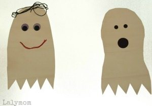 Contact Paper Ghosts - 20 Easy DIY Halloween Decorations on Lalymom.com sidebar