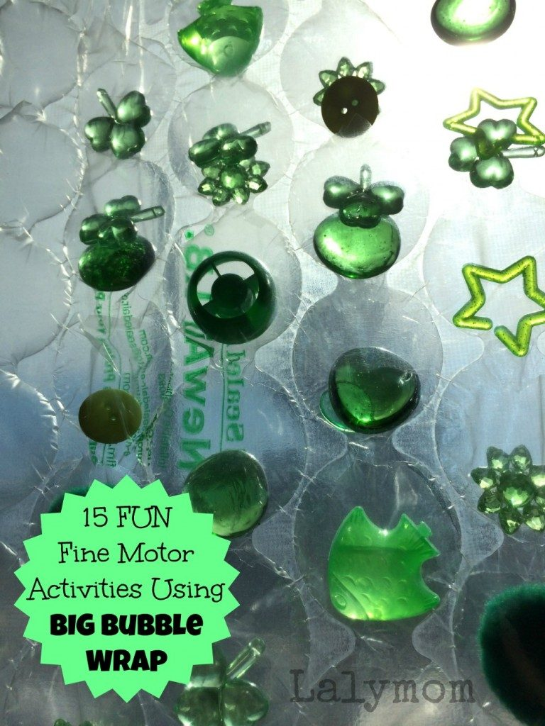 Fun Fine Motor Activities Using Big Bubble Wrap Lalymom K From