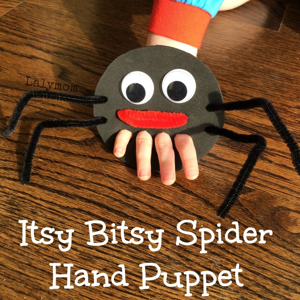 Itsy Bitsy Spider Finger Puppet for Fine Motor Play