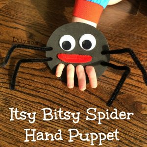 Itsy Bitsy Spider Hand and Finger Puppet from Lalymom (5)