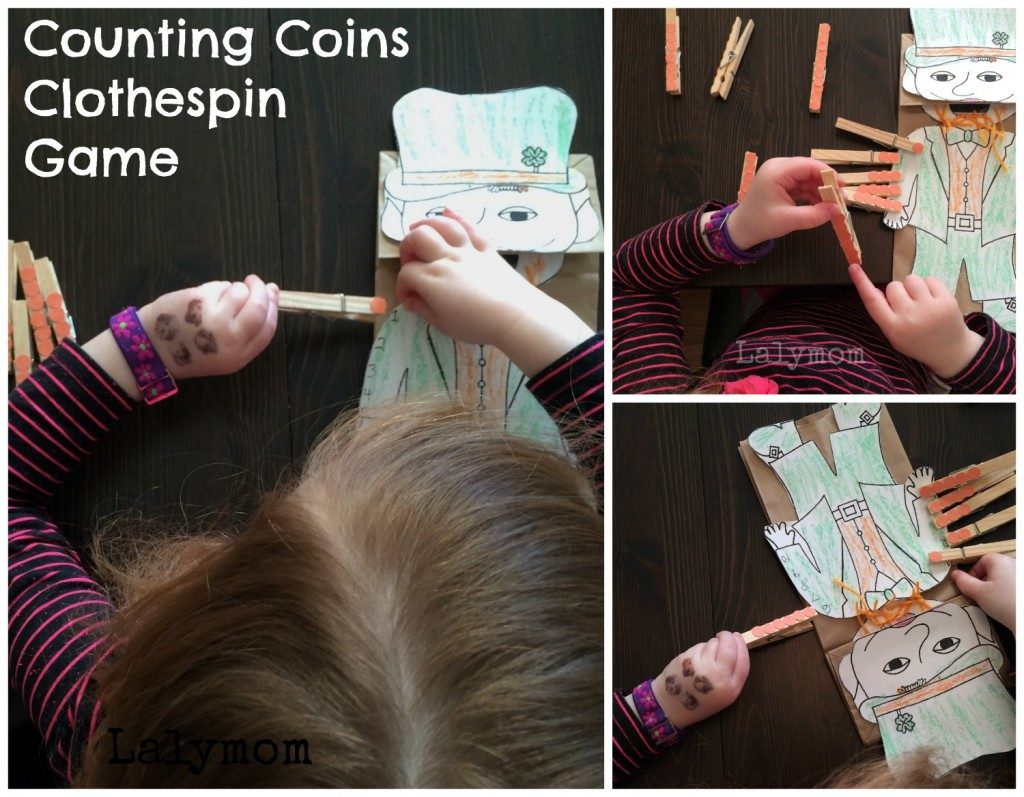 St. Patricks Day Counting Game for Preschoolers from Lalymom