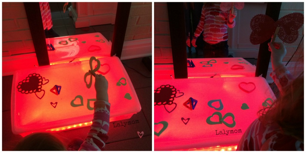 Valentine's Day Light Box and Light Table Activities for Preschoolers from Lalymom