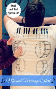 DIY Back Massage Shirt- Musical Massage from Lalymom #