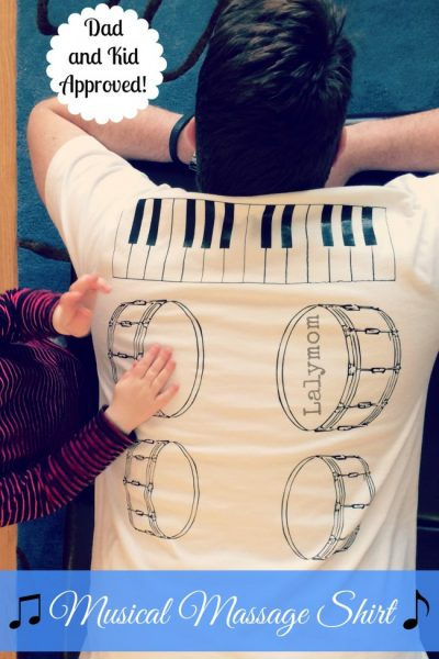 DIY Back Massage Shirt- Musical Massage - DIY or Buy it today!