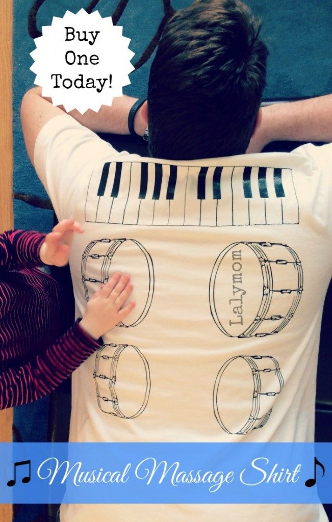 musical massage fathers day shirt DIY or Buy! Tutorial and for sale from Lalymom