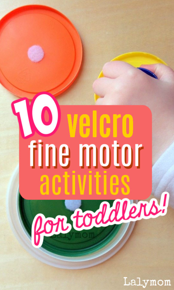 10 DIY Velcro Activities for kids - Fun activities for toddlers, preschoolers and kindergartners that get those hands working. #finemotor #toddler #preschool #kindergarten #kids #velcro