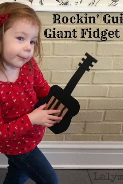 Guitar DIY Fidget Ring for Fine Motor Development from Lalymom