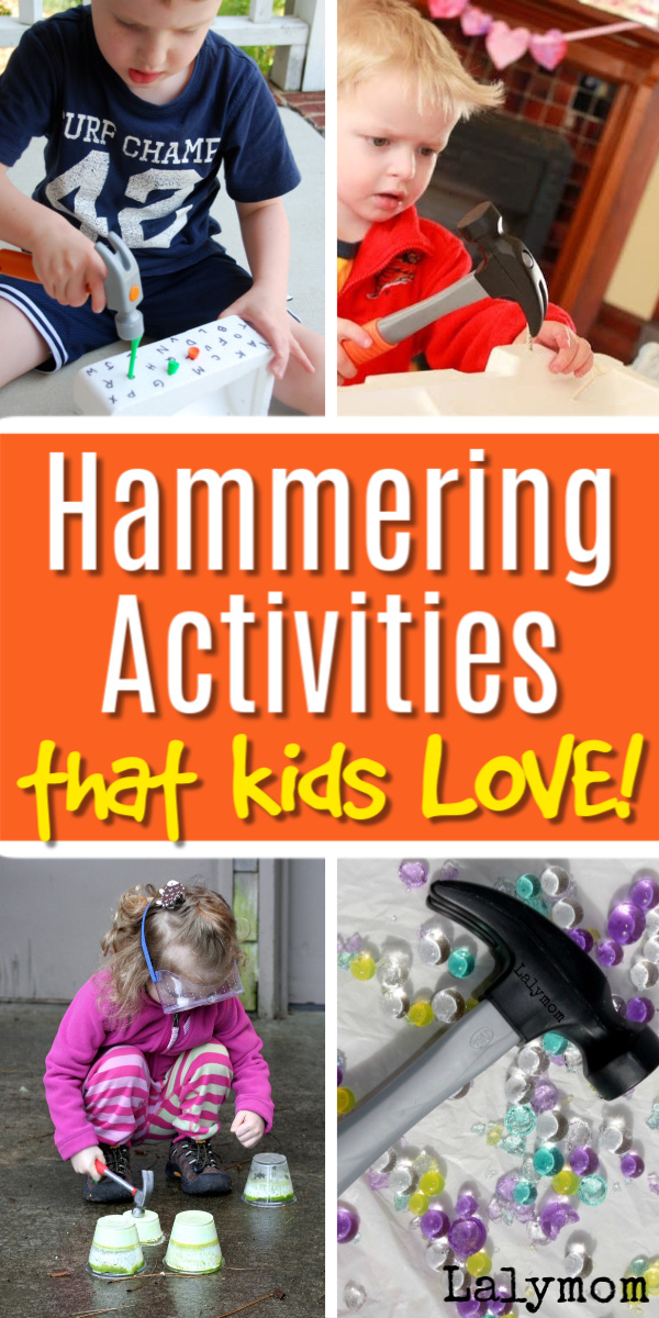 Hammering Activities that kids will love #toddler #preschool #kindergarten #kids #finemotor