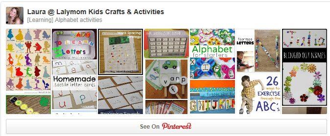 Lalymom ABCs Alphabet Activities Pinterest Board