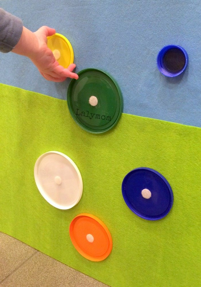 Roundup of Fine Motor Activityes for Toddlers Using Velcro- Velco Lids - from Lalymom #SmartMarch #OccupationalTherapy #OT #ECE