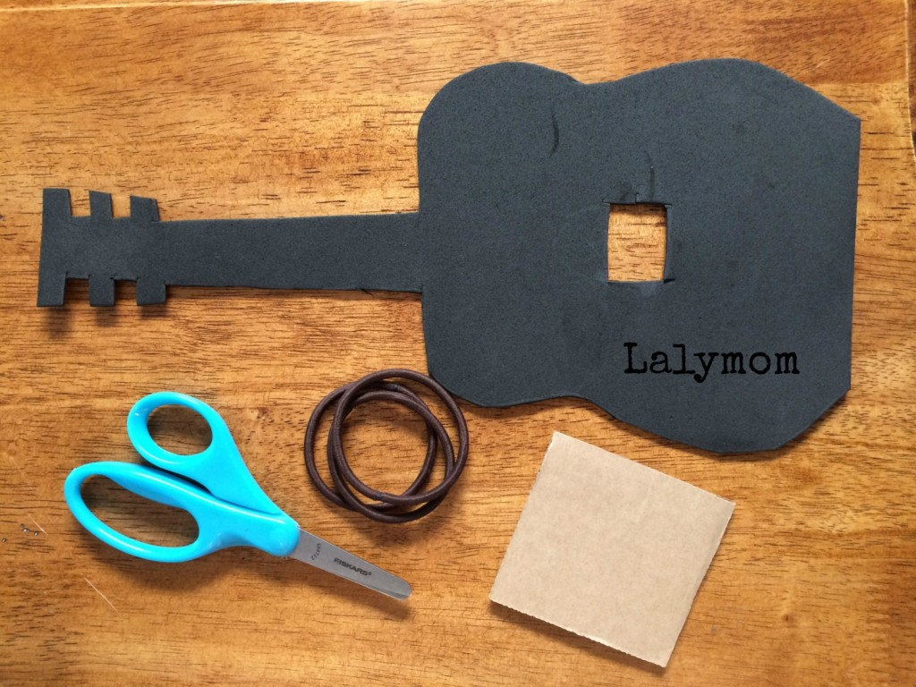 Tutorial for Guitar DIY FIdget Ring for Fine Motor Development from Lalymom